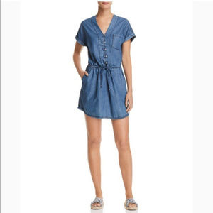 PAIGE Haidee Chambray Tencel Shirt Dress